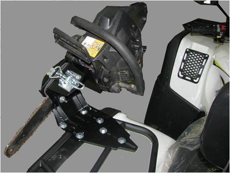 Крепление бензопилы на квадроцикл